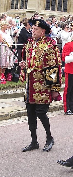 Hubert Chesshyre - Hubert Chesshyre taking part in the Garter Day procession at Windsor Castle on 19 June 2006.