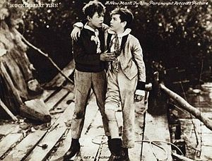 Huckleberry Finn (1920 film) - Lewis Sargent and Gordon Griffith.