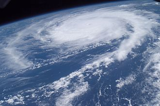 Hurricane Frances - Photo of Hurricane Frances taken by Mike Fincke aboard the International Space Station on August 27, 2004
