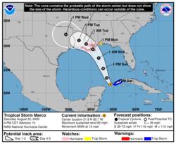 Hurricane Marco 2020 advisory 10.png
