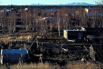 Huslia, Alaska - Image: Huslia village (1)