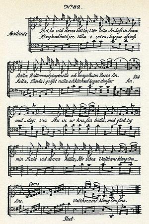 Hvila vid denna källa - Music for Carl Michael Bellman's Epistle 82, Hvila vid denna källa