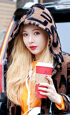 HyunA going to KBS Song Festival on December 29, 2017.jpg