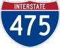 Interstate 475 marker