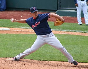 Daisuke Matsuzaka - Matsuzaka pitching for the Pawtucket Red Sox, triple-A affiliates of the Boston Red Sox, in 2009