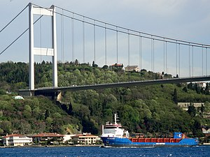 Fatih Sultan Mehmet Bridge - Fatih Sultan Mehmet Bridge (1988) in Istanbul, connecting Europe and Asia