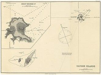 Selvagem Grande Island - Image: IMRAY(1884) p 0129 SALVAGE ISLANDS