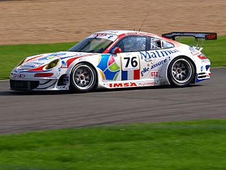 IMSA Performance - IMSA Performance Matmut Porsche 997 GT3-RSR at the 2008 1000 km of Silverstone.