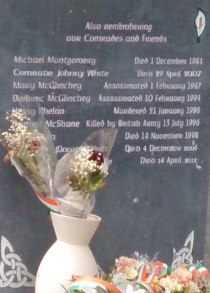 INLA memorial Derry City Cemetery detail.png