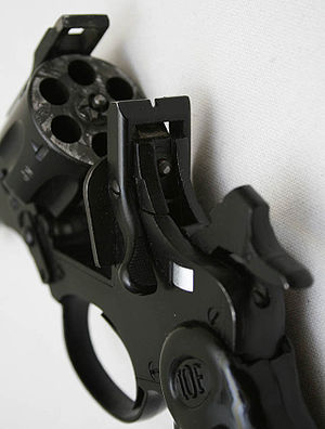 Break action - Close-up of a break-action revolver