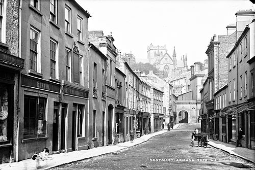 Scotch Street, c.1900 I love her cathedral and city (27198346843).jpg