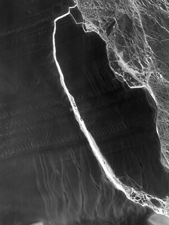 Larsen Ice Shelf - The fractured berg and shelf are visible in this image acquired by the Thermal Infrared Sensor (TIRS) on the Landsat 8 satellite on July 21, 2017
