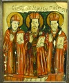 Icon - The Three Hierarchs, from Glass Icon Collection, no. 606, Maramureş Museum in Sighet, Romania.tif