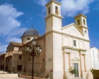 Ibi, Spain - Church of Transfiguración del Señor