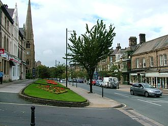 History of Ilkley - The Grove, Ilkley's principal shopping street, designed with wide pavements for promenading