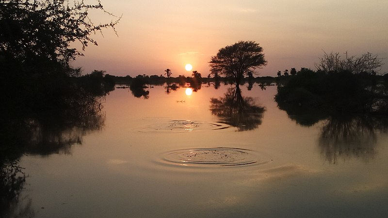 File:Image of the flood of the river nile at sunset 02.jpg