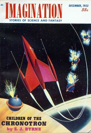 Imagination (magazine) - The December 1952 issue, illustrating the revised cover layout that began with the June 1951 issue. The artist is Malcolm Smith.