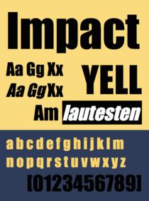 Impact font sample.tiff