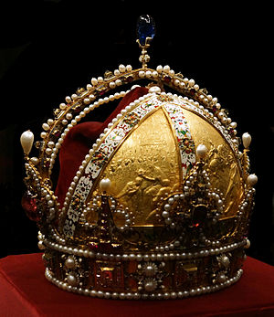 Imperial Crown of Austria - Imperial Crown of Austria, kept in the Imperial Treasury at the Hofburg Palace in Vienna, Austria