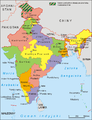 India administrative map 1957 PL.png