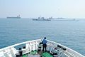 Indian Coastguard vessels and other units rendering assistance to the disabled tanker.jpg