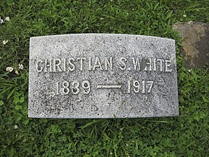 Christian Streit White - Gravestone at the interment site of Christian Streit White at Indian Mound Cemetery in Romney, West Virginia