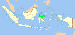 Location of Central Sulawesi in Indonesia