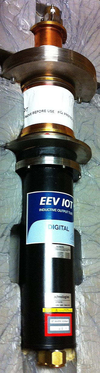 Teledyne e2v - An e2v-made EEV IOT for UHF ATSC broadcast television, shown new in packaging.