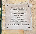 Inscription 1977-06-05, Romeo Romano Gardens, Santa Venera 001.jpg