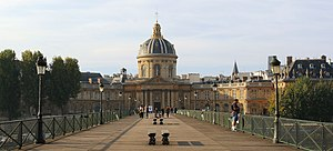 Institut de France - The Institut de France, from the pont des Arts.