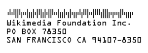 Intelligent Mail barcode - A possible Intelligent Mail Barcode for the Wikimedia Foundation address