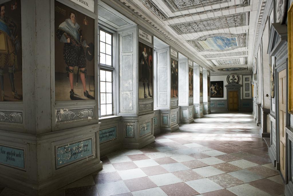 Interiör. Omgången vån 2. Liggande - Skoklosters slott - 87263.tif