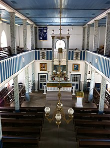 Interior of St. Paul Lutheran Church, Serbin, TX.jpg