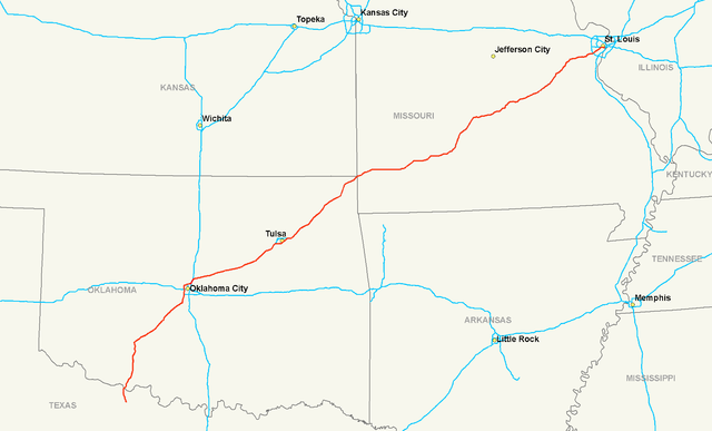 Interstate 44 Map File:Interstate 44 map.png   Wikimedia Commons
