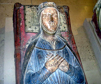 John, King of England - The effigy of Isabella of Angoulême, John's second wife, in Fontevraud Abbey in France