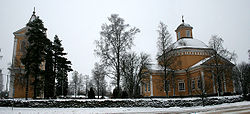 Isojoki church and bell tower