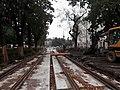 Józefa Dietla - tram line works, Oct 2019.jpg