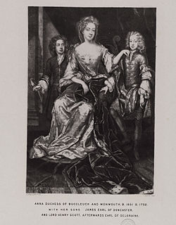 Anne Scott, 1st Duchess of Buccleuch Scottish peeress