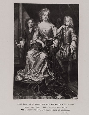 Anne Scott, 1st Duchess of Buccleuch - Anna, Duchess of Buccleuch and sons