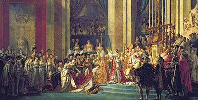 Jacques-Louis David, The Coronation of Napoleon crop