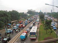 Jakarta verkeersopstopping Foto door mijzelf g...