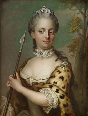 Charlotte Du Rietz - Portrait of countess Charlotte Du Rietz af Hedensberg, copy by Jakob Björck after a pastel by Gustaf Lundberg