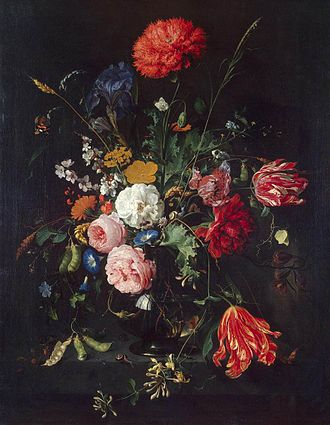Johann Karl Philipp von Cobenzl - Flowers in a Vase, painted by Jan Davidszoon de Heem. This painting formed a part of the collection of Count Karl von Cobenzl in Brussels which was bought by Catherine the Great in 1768. The painting is currently on view in the Hermitage Museum.