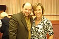 Jan Schakowsky with Jason Alexander campaigning for Obama in West Palm Beach8 (3118517523).jpg