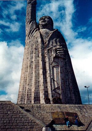 Janitzio - Statue of José María Morelos at Janitzio