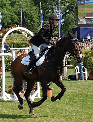 English: German rider Janne Friederike Meyer w...