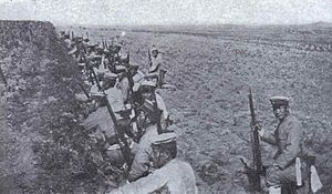Japanese Infantry Preparing the Attack during the Siege of Port Arther.jpg