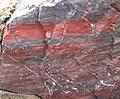 Jaspilite (Soudan Iron-Formation, Neoarchean, ~2.69 Ga; Soudan Mine, Soudan, Minnesota, USA) 6 (19034309581).jpg