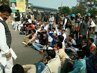 Jat reservation agitation - A protest by Jats