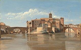 The Island and Bridge of San Bartolomeo, Rome